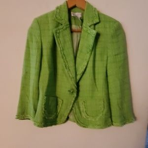 Worthington Green Long Sleeve Blazer - 6